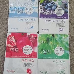 Natureby Korean Face Mask Sheet Set of 4